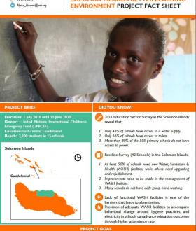 World Vision Solomon Islands Better Learning Environment Project (SIBLE)