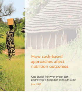 This research case study, commissioned by World Vision, aims to contribute to the evidence and learning around how CVP contributes to nutritional outcomes for mothers and children. It does this by documenting lessons, recommendations and best practices emerging from World Vision cash-based programmes in two contexts: Bangladesh and South Sudan.