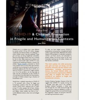 COVID-19 and child protection in fragile and humanitarian contexts