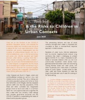 COVID-19 & the Risks to Children in Urban Contexts