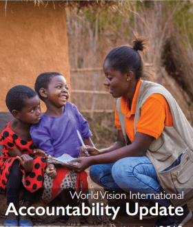 Front cover of World Vision International Accountability Update 2019