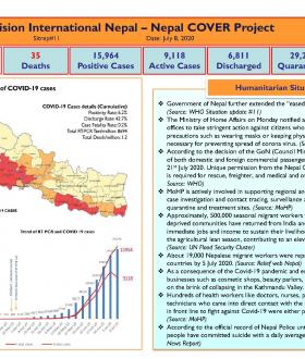 Nepal COVER Project SitRep 11 (Updated 8 July 2020) cover