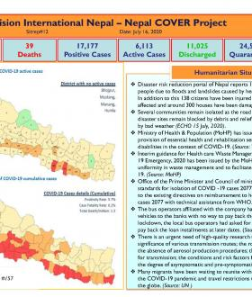 Nepal COVER Project SitRep 12 (Updated 16 July 2020)  cover