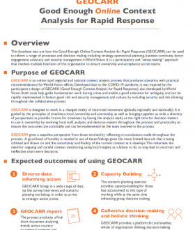 GEOCARR: Good Enough Online Context Analysis for Rapid Response