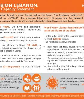 World Vision Lebanon Humanitarian Capacity Statement