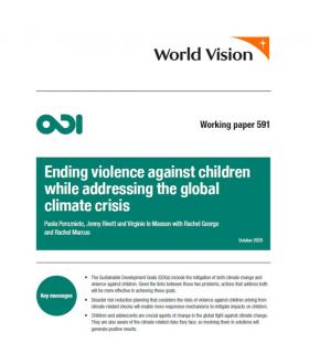 EndEnding violence agasinst children while addressing the global climate crisis