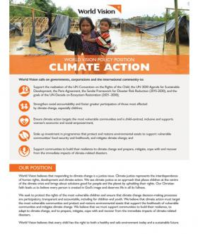 Climate Action: World Vision's Policy Position - Summary