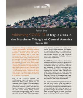 Addressing COVID-19 in fragile cities in the Northern Triangle of Central America