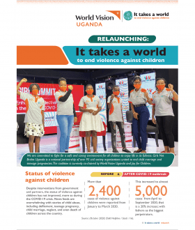 It takes a world campaign relaunch publication