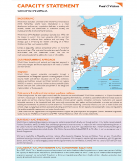 World Vision Somalia Capacity Statement