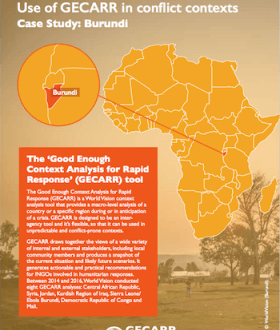 Cover Page: GECARR Case Study Burundi