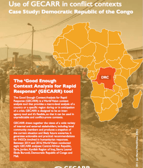 Report cover: DRC Case Study of GECARR