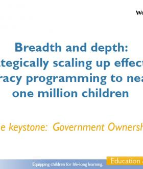 Breadth and depth: strategically scaling up effective literacy programming to nearly one million children