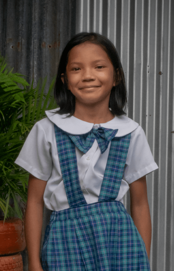 Smiling girl from the Philippines