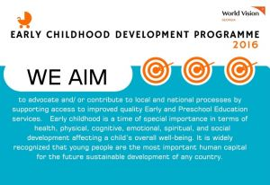 Early Childhood Development Annual Review 2016 World Vision