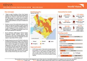 Responding to Kenya's Hunger Crisis – February 2018