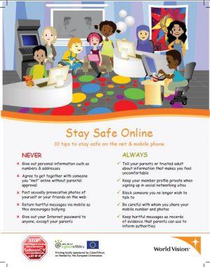 poster stay safe online kids world vision international