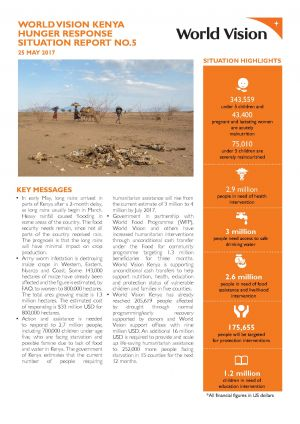Situation Report   Kenya Hunger Crisis Response  World Vision