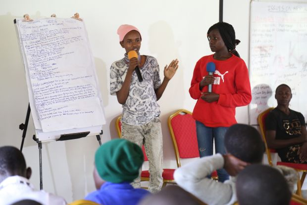 Children deliberating on issues affecting them during the Children's Forum organised by World Vision Kenya on 7, December, 2018. ©2018 World Vision/Photo by Hellen Owuor