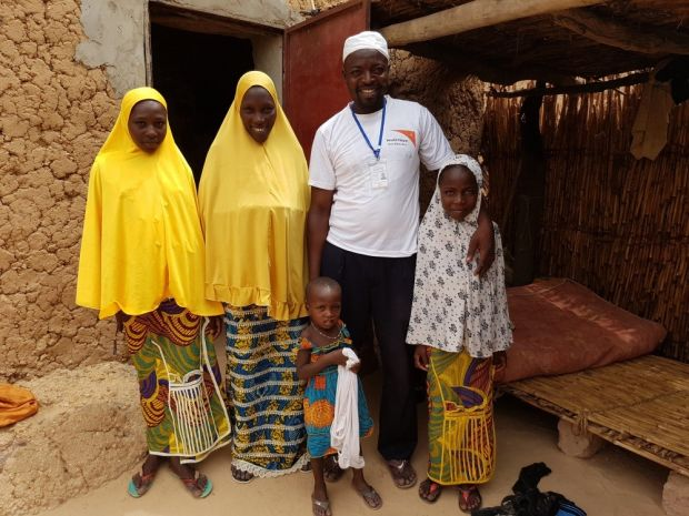 Moussa and his family