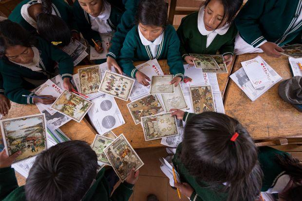 Children learning in Felisa's class