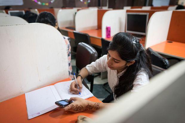 Shivani working in India