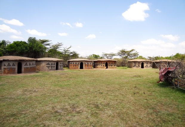 Community latrines constructed in Mpata, Kirindon, Kenya in 2014. ©World Vision