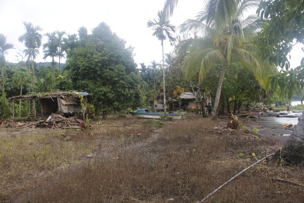 Sea surge in Makira triggered by the 7.8 earthquake