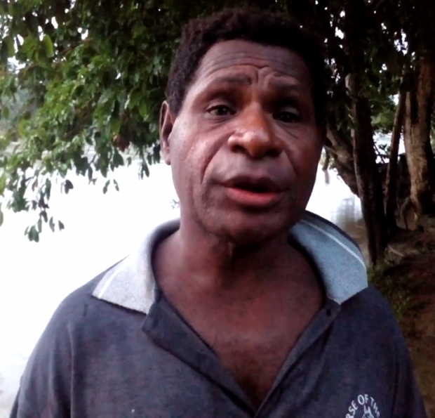 Simon Kunabe, the lead farmer for his village of Watebu. Watebu is one of six communities in Middle Ramu District, Madang Province that is part of the World Bank and PPAP funded cocoa project.