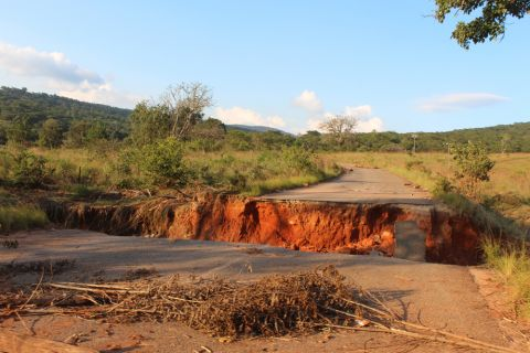 More than 95% of the road networks in the affected areas were damaged.