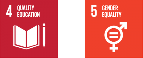 SDGs 4 and 5 - Sustainable Development Goal 4, Quality Education and Sustainable Development Goal 5, Gender Equality