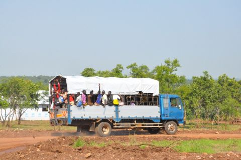 After a long and hard journey, refugees are relieved to finally reach their destination, their new home in Uganda.