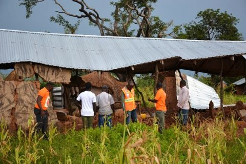 World Vision and National Disaster Management Organisation(NADMO) visiting affected communities