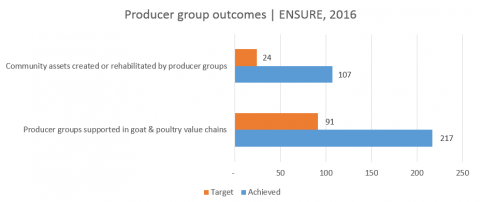 Figure 3 Through ENSURE Programming In 2016 Producer Groups Enhanced Community Assets Eg Dams Irrigation Schemes Wells And Gardens Value Chains