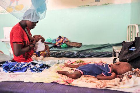 The scene inside a stabilization ward of a Turkana hospital where severe acute malnutrition wreaks havocs on children.