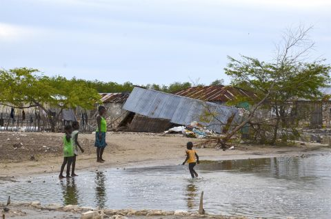 Hurricane Matthew damages in Bodain, Island of La Gonave