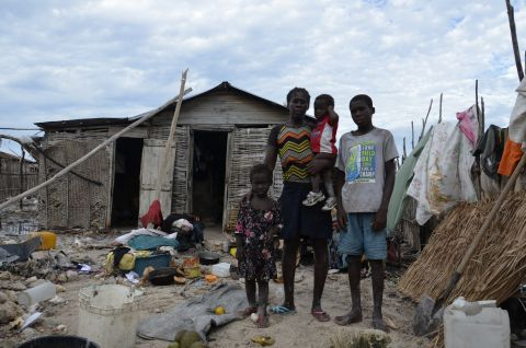 Maria and her family are now staying at a friends after their house collapsed