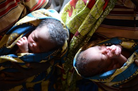 Twins at risk of malaria