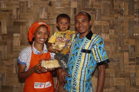 Terezinha, her husband Antonio, and son Joao.