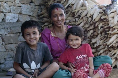 Family in Nepal