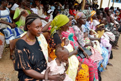 A scene at the nutrition centre