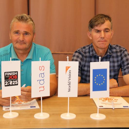 Vahid and Miograd, mine incident survivors who have received economic support