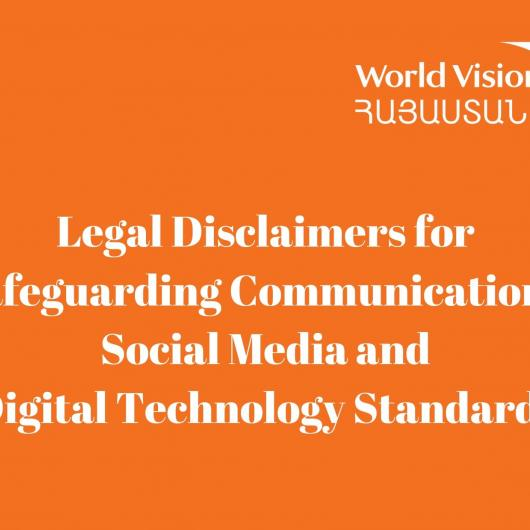 Legal Disclaimers for Safeguarding Communications, Social Media and Digital Technology Standards