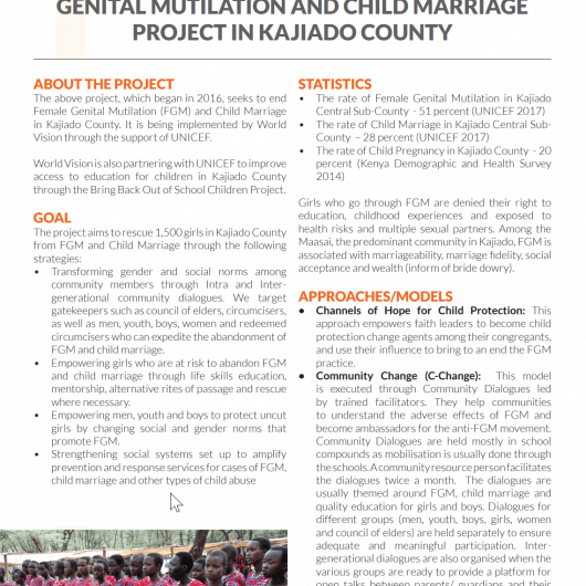 accelerating abandonment of FGM and Child Marriage in Kenya