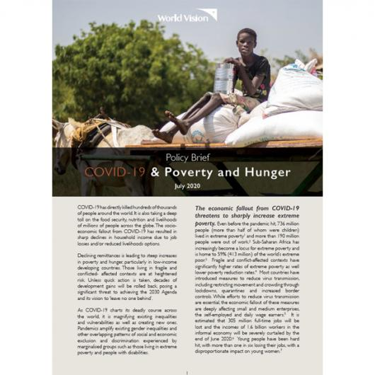 COVID-19 Policy brief Poverty and Hunger