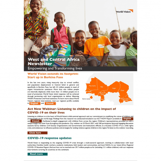 West and Central Africa Newsletter - March 2021