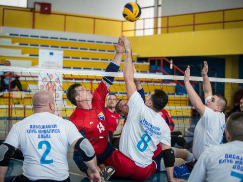 Landmine survivors – volleyball masters