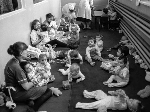 Orphan crisis in Romania 1990s