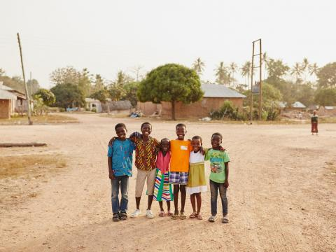 A group of children in Ghana