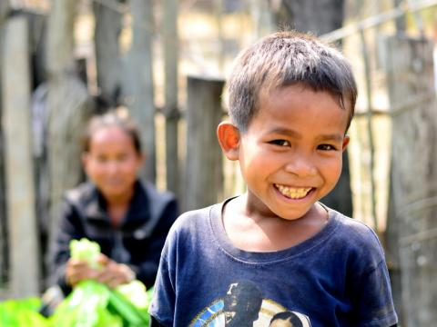 Smiling sponsored child in Laos